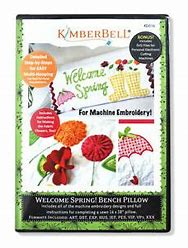 Kimberbell Welcome Spring Bench Pillow Embroidery CD