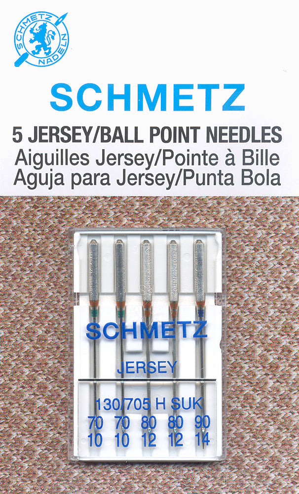 Schmetz Needles - Assorted 5 Pack - Jersey/Ball Point Needles