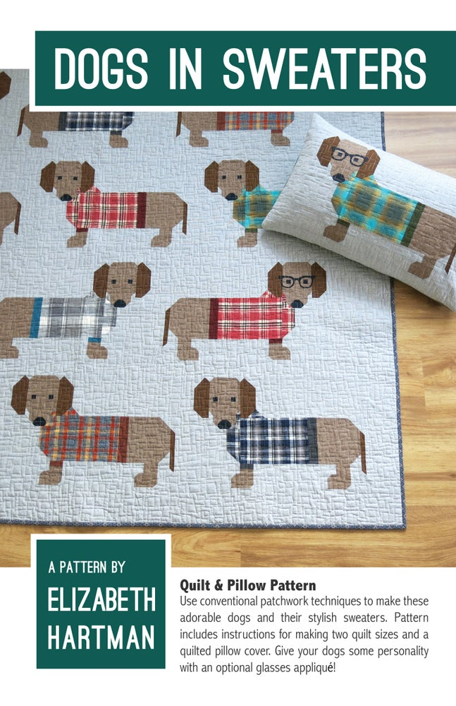 Dogs in Sweaters Pattern by Elizabeth Hartman