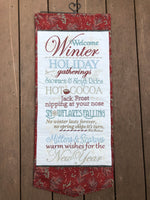 Winter Wishes Wall Hanging - Williamsville