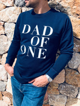 SWEAT-SHIRT DAD OF ONE, DAD OF TWO, THREE... BLEU MARINE