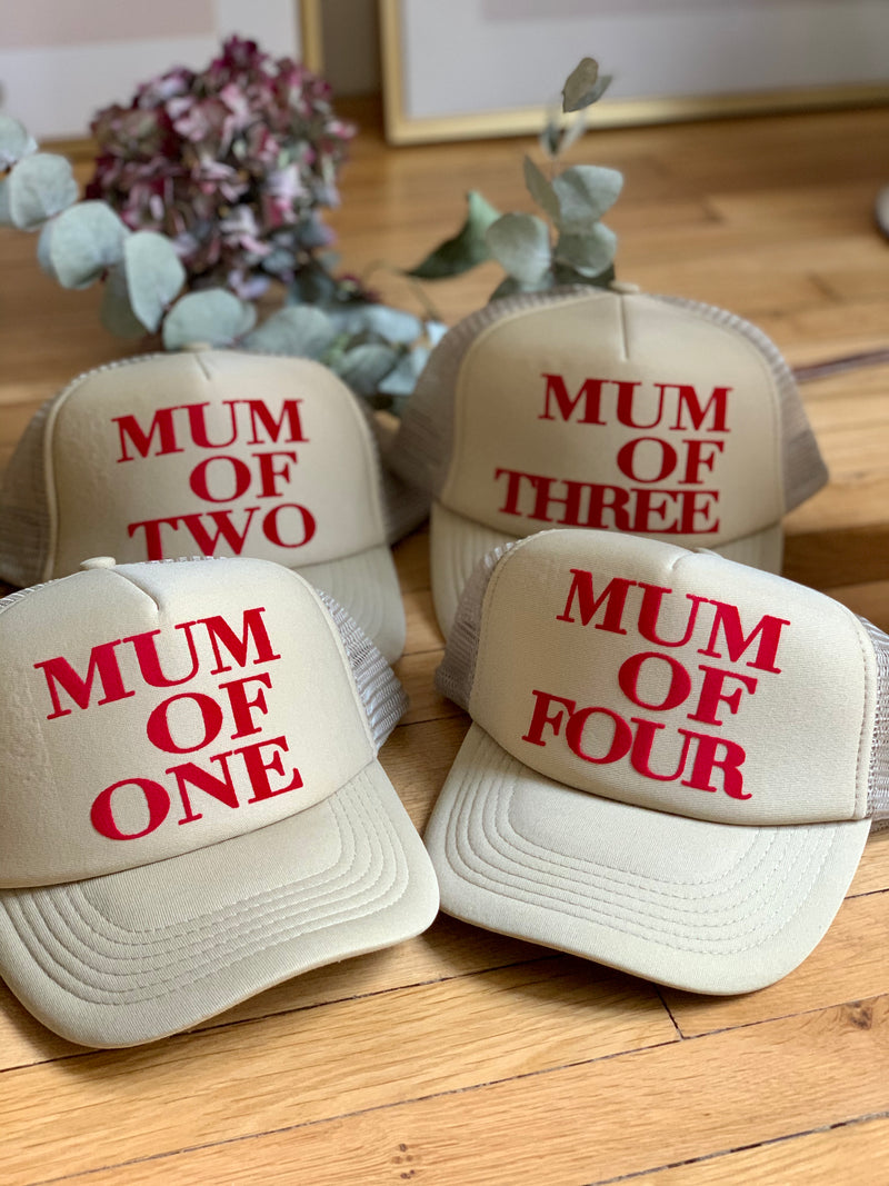 CASQUETTE MUM OF - SABLE - Disponibles pour les MUM OF ONE, TWO, THREE...