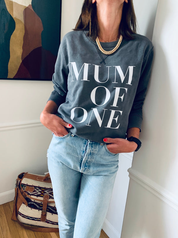 SWEAT-SHIRT MUM OF VINTAGE ANTHRACITE