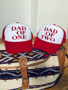 CASQUETTE DAD OF - ROUGE ET BLANCHE - Disponibles pour les DAD OF ONE, TWO, THREE...