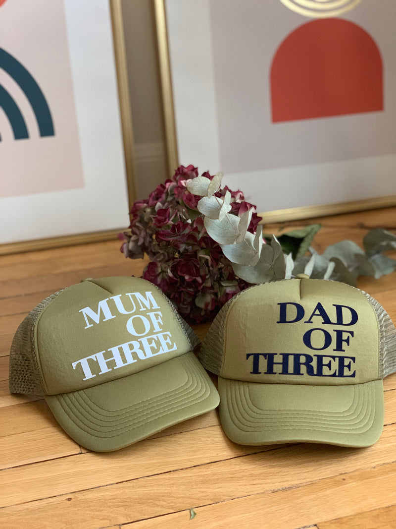 CASQUETTE MUM OF - KAKI - Disponibles pour les MUM OF ONE, TWO, THREE...