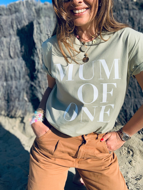 T-SHIRT EUCALYPTUS MUM OF ONE, MUM OF TWO, MUM OF THREE, MUM OF FOUR...