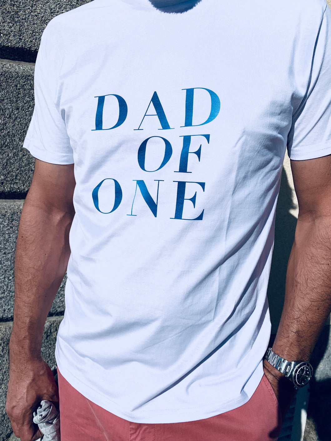 DAD OF TIE & DIE BLEU Disponible pour tous les DAD OF ONE, DAD OF TWO, DAD OF THREE, DAD OF FOUR, FIVE, SIX, TWINS, DAD TO BE