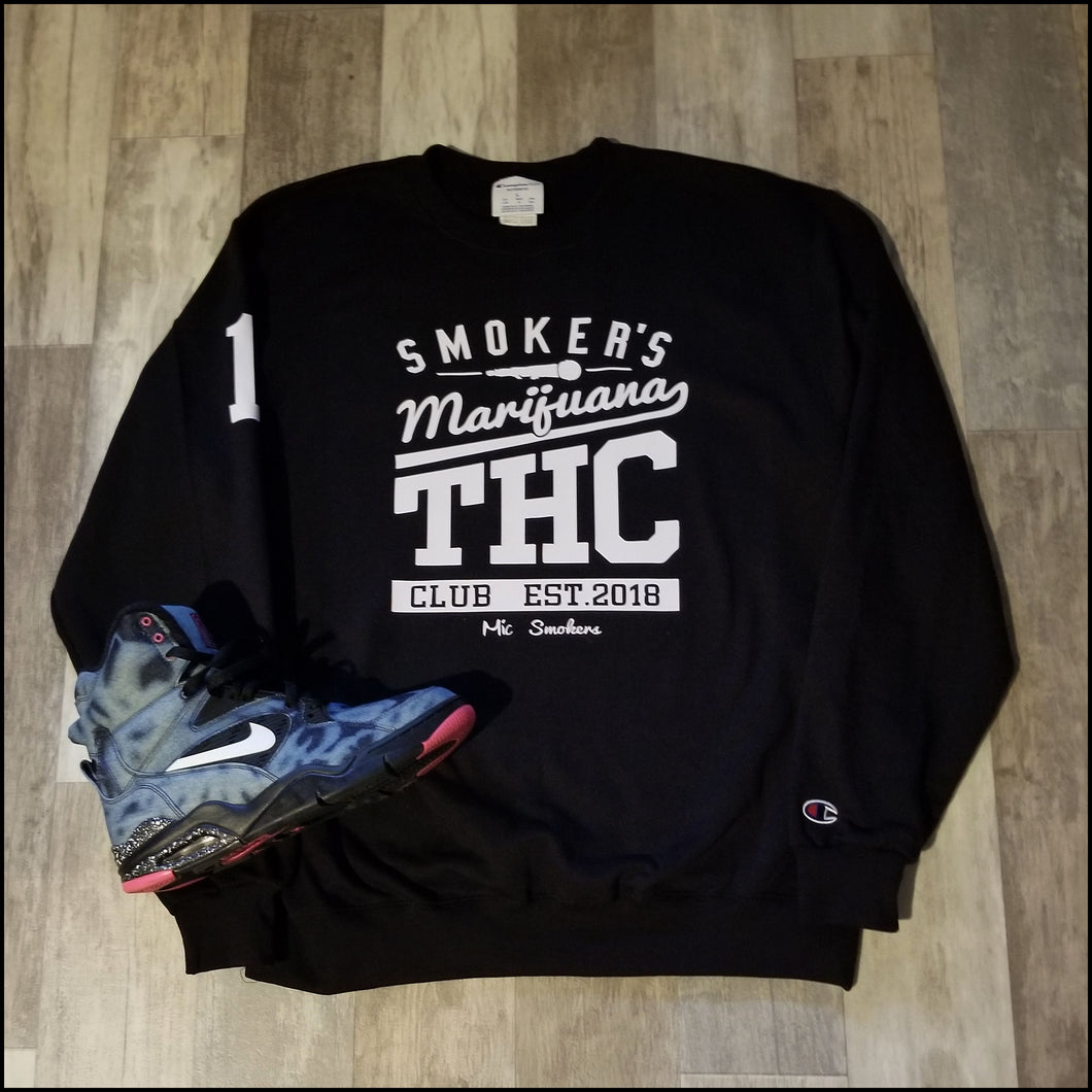 Mic Smokers Champion Crewneck Bk/Wh
