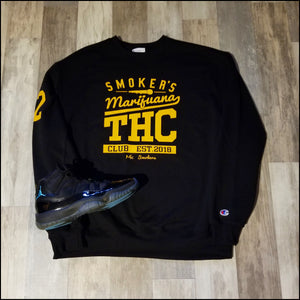 Mic Smokers Champion Crewneck Bk/Y