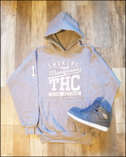 Mic Smokers Champion Hoodie Grey/Wh