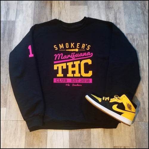 Mic Smokers Champion Crewneck Bk/Y/Pk