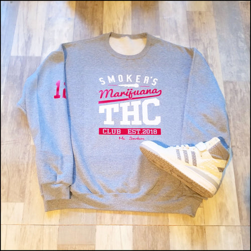 Mic Smokers Champion Crewneck Grey/Rd/Wh