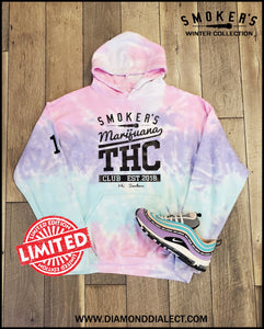 Mic Smokers Champion Hoodie Cotton Candy/Blk