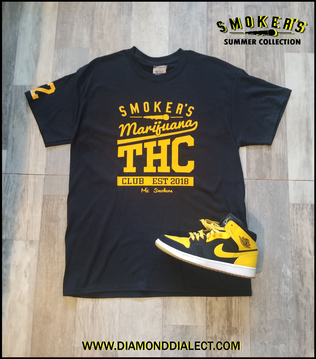 Mic Smokers Champion T-Shirt Bl/Yell