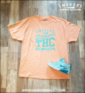 Mic Smokers T-Shirt LightOrange/OBlue
