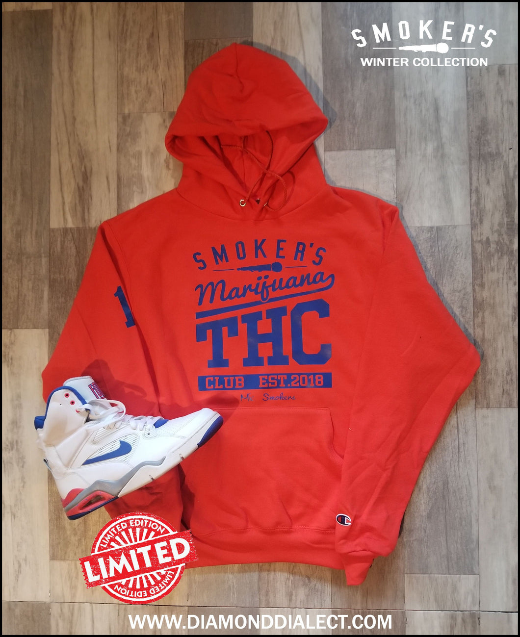 Mic Smokers Champion Hoodie Orange/Bl