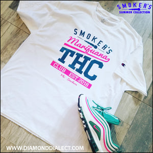 Mic Smokers Champion T-Shirt Wh/Pk/Tl