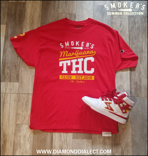 Mic Smokers Champion T-Shirt R/Wh/Yell