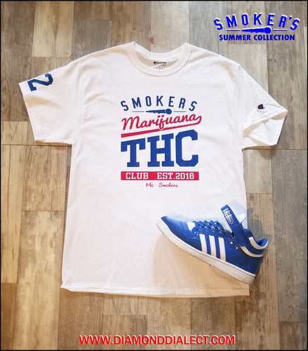 Mic Smokers Champion T-Shirt Wh/Blu/R