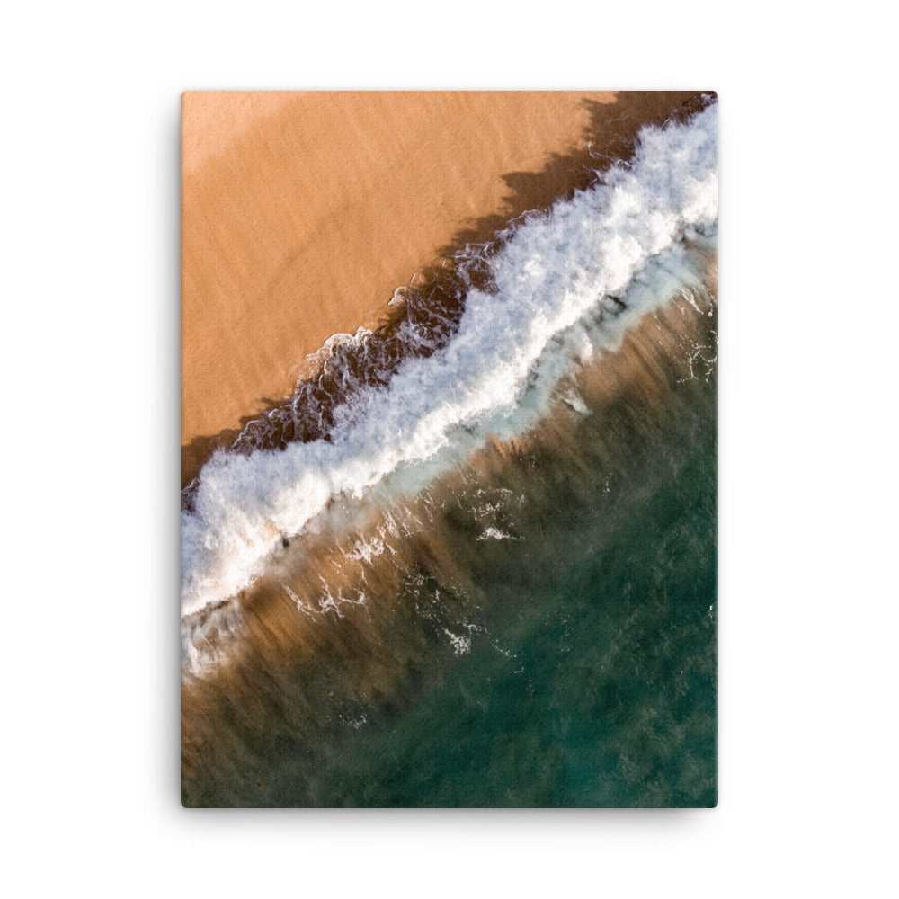 Orange waves Print