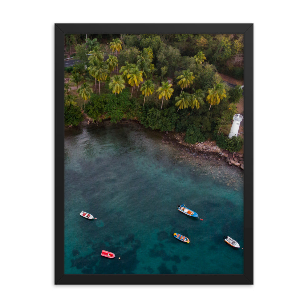 Tropical Boats Print