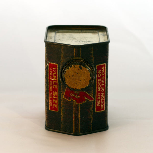 "Antique TOWLE'S LOG CABIN SYRUP TIN Copyright 1914 ""Boy in Doorway"" Jack Towle 12-Ounce Capacity"