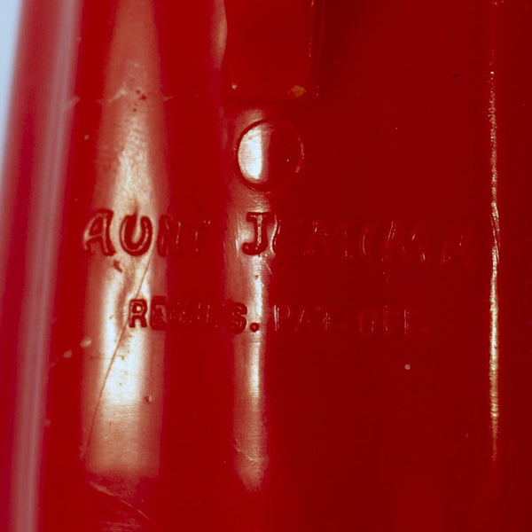 Black Americana Molded Hard Plastic AUNT JEMIMA SYRUP PITCHER Circa 1949 F & F Mold and Die Works