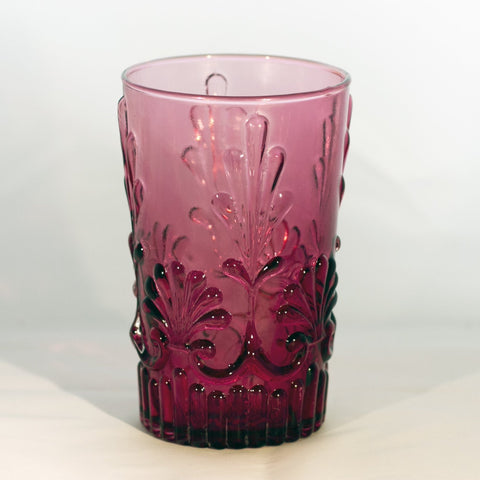 Vintage ADAMS PATTERN CRANBERRY GLASS Highball Glass by Pilgrim Glass Corporation