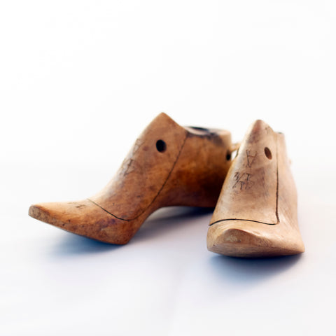 Edwardian Style KRENTLER BROTHERS WOOD SHOE LASTS Salesman Sample Circa 1900 - 1920