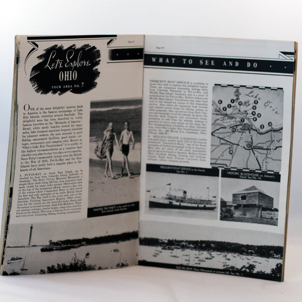 LET'S EXPLORE OHIO Travel Publication by The Standard Ohio Company Circa 1941