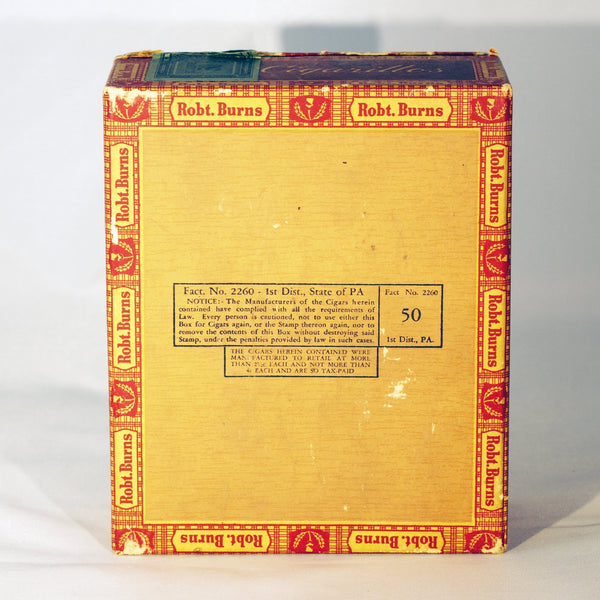 ROBERT BURNS 4¢ CIGAR BOX
