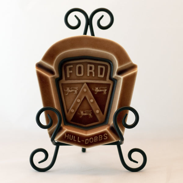ROOKWOOD POTTERY Hull-Dobbs Ford Ashtray Circa 1954