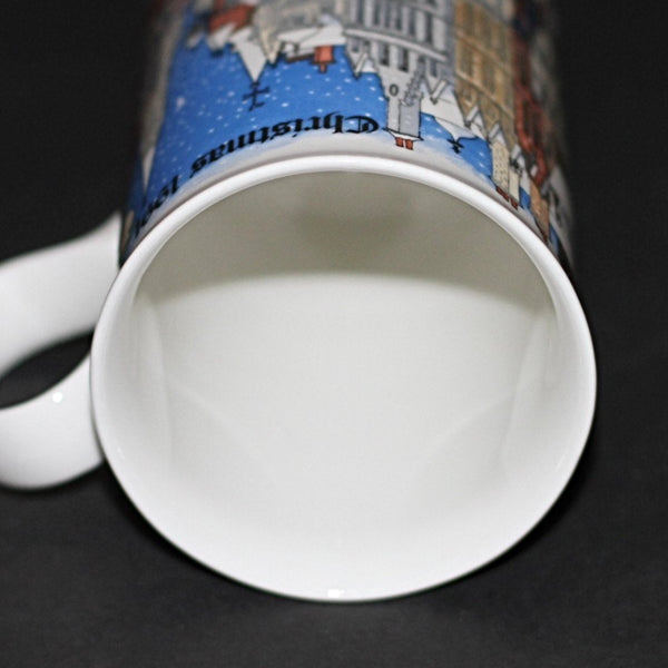 Dunoon Mug Christmas Time Carollers by Sue Scullard Commemorative 1991