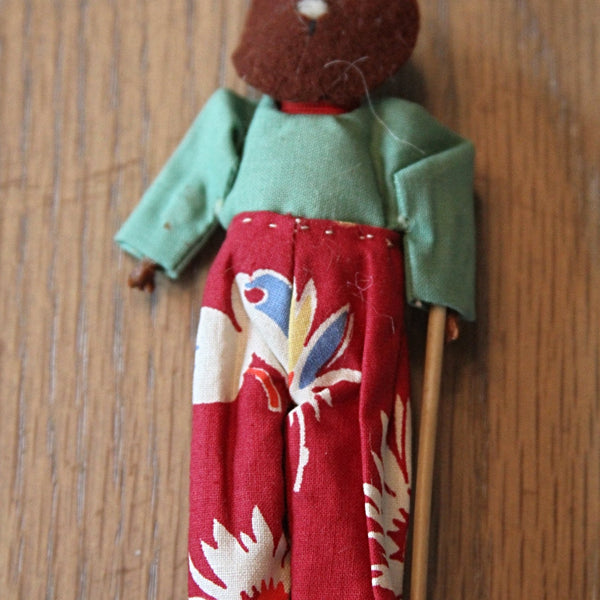 HANDMADE FOLK ART Black Americana Doll Circa Early 20th Century
