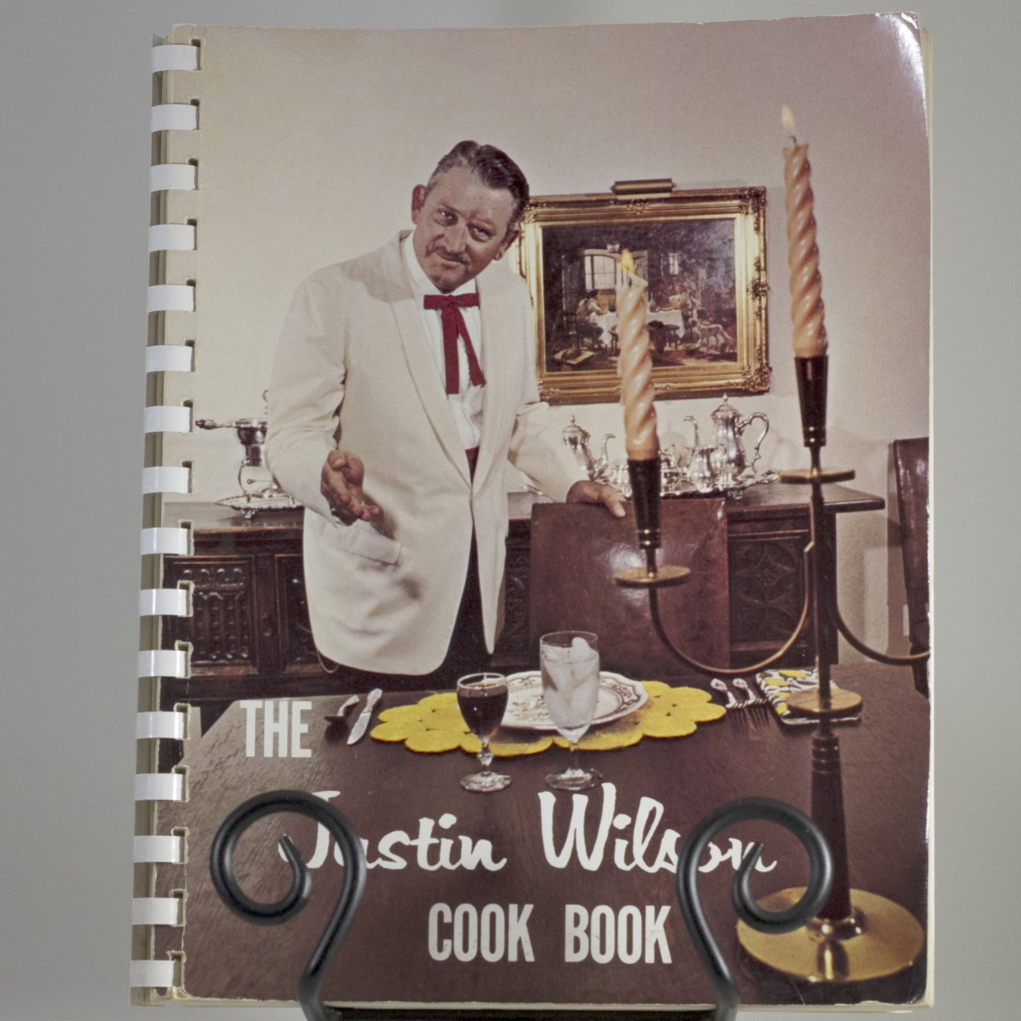 "Vintage ""The Justin Wilson Cook Book"" Spiral-Bound Copyright 1965"