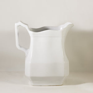 CLASSIC OPTIC BLOCK by J & G Meakin Antique Ironstone Small Pitcher Circa 1890
