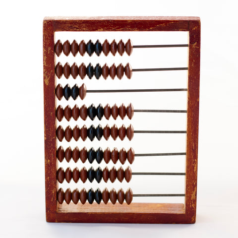 HANDHELD WOODEN RUSSIAN ABACUS  Circa 1920 - 1970