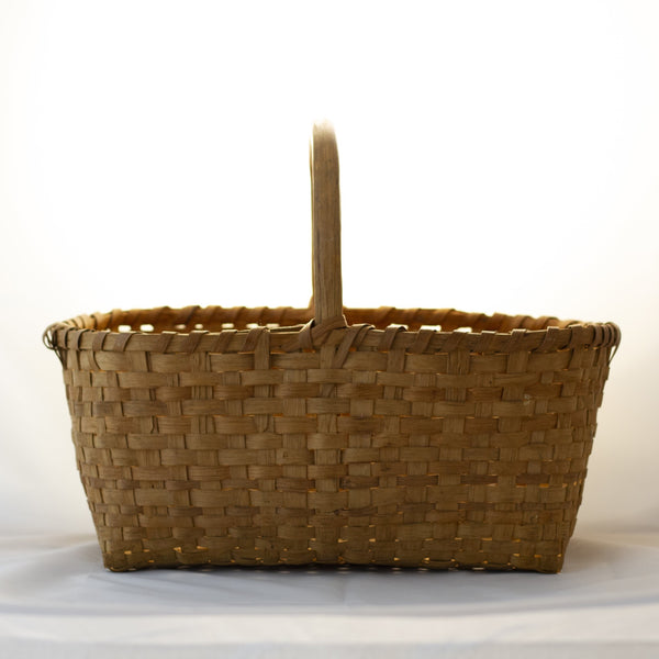 HICKORY HANDLE ANTIQUE HARVEST BASKET 18""