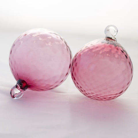 PILGRIM CRANBERRY HAND BLOWN CRANBERRY GLASS BAUBLES Circa 1970s