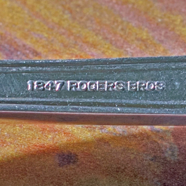ANNIVERSARY SILVER PLATE MEAT FORK by 1847 Rogers Brothers