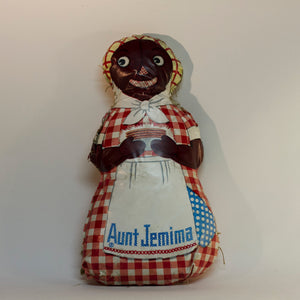 Black Americana AUNT JEMIMA OIL CLOTH DOLL Circa 1940s