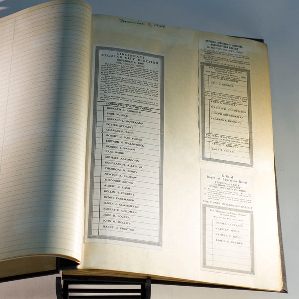 Hamilton County Ohio BOARD OF ELECTIONS Sample BALLOT SCRAPBOOKS Set of Two (2) Compiled by Joseph H. Hudepohl