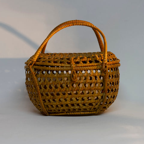 Vintage Wicker Rattan HANDLE PURSE