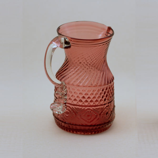 PILGRIM CRANBERRY GLASS Bennington Pitcher