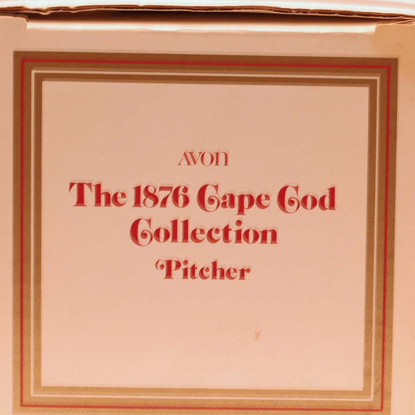 CAPE COD 1876 COLLECTION By Avon Water Pitcher