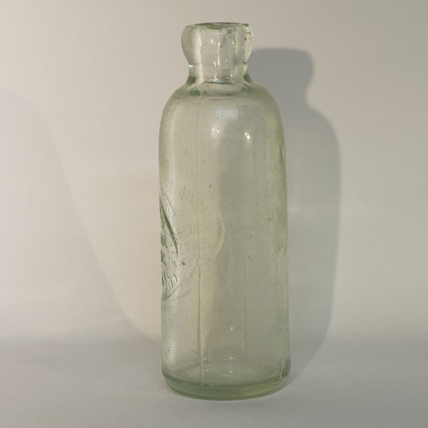 ISAIAH BUNN RIVERSIDE BOTTLING WORKS Warwick, NY Rare Hutchinson Bottle with Spelling Error Circa 1888 - 1893