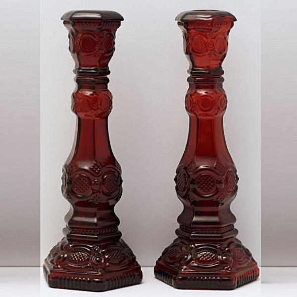 CAPE COD 1876 COLLECTION By Avon Set of Two Tall Candlesticks
