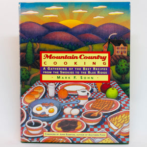Mark Sohn's book, MOUNTAIN COUNTRY COOKING was a James Beard Award 1997 nominee. This first edition-first printing hardbound copy is in like-new condition. More than a cookbook, but a guided tour to the cuisine of the deep valleys, small farms, and rugged people of Appalachia. ISBN-10:031214682 ISBN-13:978-0312146825