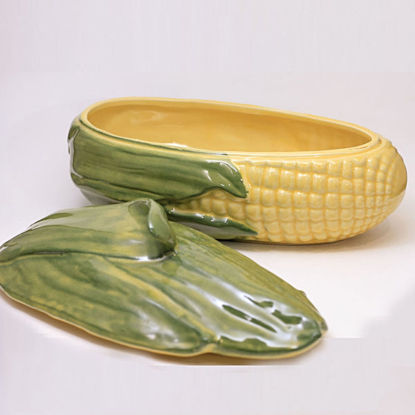 SHAWNEE Pottery CORN KING Covered Casserole Dish