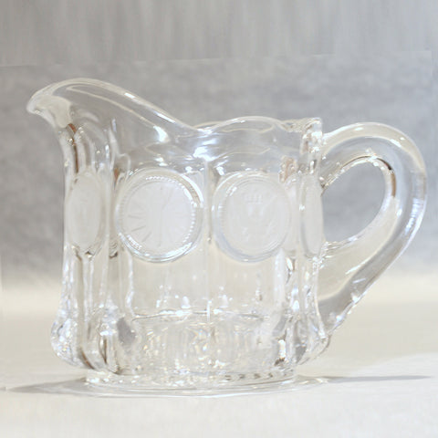FOSTORIA COIN GLASS Cream Pitcher